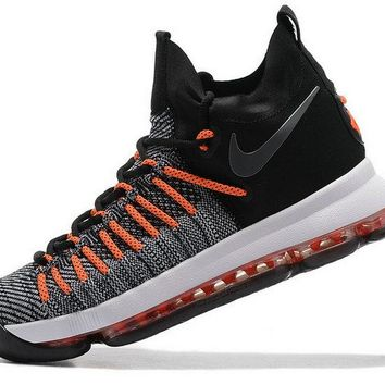 Original KD IX Nike Elite Black Max Orange Grey Brand sneaker