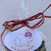 Raw Cookies made from organically grown ingredients - Pet Rabbit Treats (Rabbits, Guinea Pigs, Rats, Hamsters)