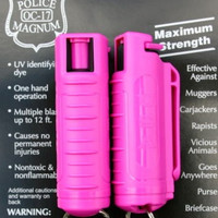 PEPPER SPRAY with HOT PINK MOLDED KEYCHAIN