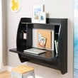Black Floating Wall Mounted Desk for Contemporary Home Office