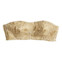 H&M - Bustier with Metal Embroidery - Gold - Ladies