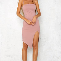 Castle Infinity Midi Dress Blush