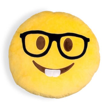 Nerdy Emoji Pillow