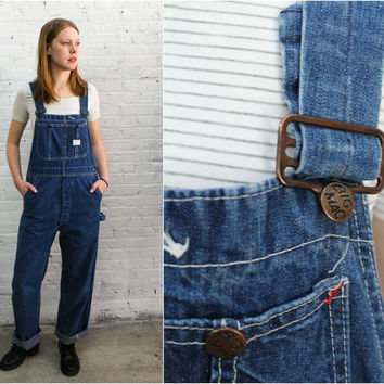 vintage denim overalls / Big Mac union made overalls / workwear work wear