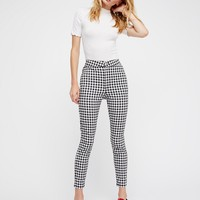 Free People Gingham Skinny Pants