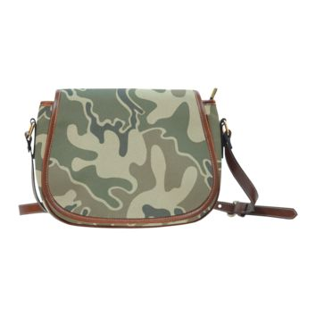 Women Shoulder Bag 1948 Retro Camouflage Saddle Bag Large