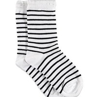 Ruffle-Trim Striped Socks