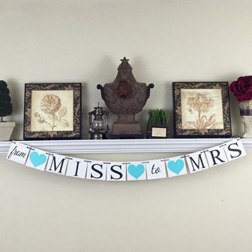 From Miss to Mrs Banner, Bridal Shower Decor, Wedding Shower Decorations, Hen's Party