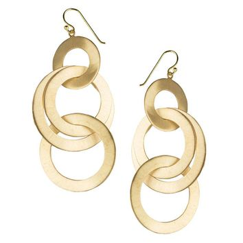 Emily Earrings in Brushed Gold