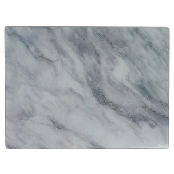 Glass Cutting Board Marble Design large 16x12""