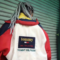 """Tommy Hilfiger"" Women Fashion Zipper Cardigan Sweatshirt Jacket Coat Windbreaker Sportswear"