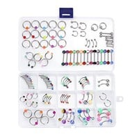 BodyJ4You® Body Piercing Kit Mix Lot in Case Jewelry Belly Ring Labret Tongue Eyebrow Tragus 120 Pieces - Walmart.com