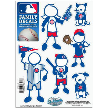 Chicago Cubs MLB Family Car Decal Set (Small)