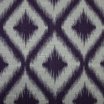 Cozy Purple Ikat 20x20 Decorative Throw Pillow Cover, Accent Pillow Cover