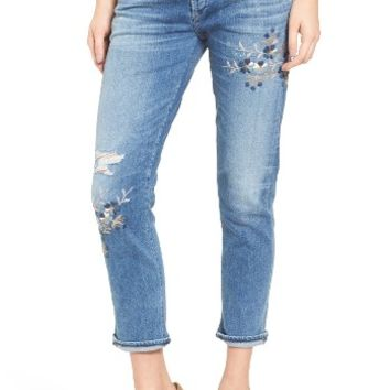 Citizens of Humanity Emerson Embroidered Slim Boyfriend Jeans (Pacifica Blossom) | Nordstrom