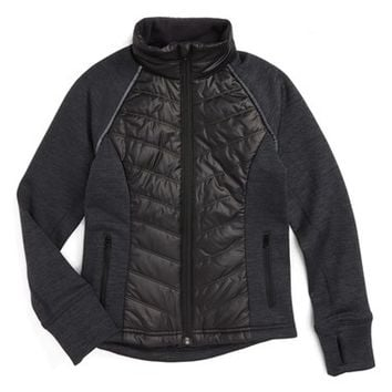 Zella Zelfusion Quilted Jacket (Little Girls & Big Girls) | Nordstrom