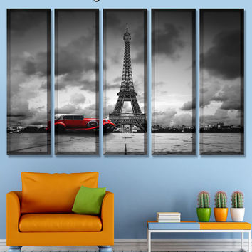 Art Canvas Print, Art Print, Car Canvas, Home Decor, paris canvas, Eiffel Tower Canvas, view of Paris, romantic picture, paintings prints