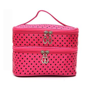 Wash Beautician Vanity Necessaire Trip Beauty Women Travel Toiletry Make Up Makeup Case Cosmetic Bag Organizer Box Pouch Handbag