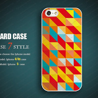 Colors patch Iphone 4 covers 4 case Iphone 5 case hard Case iphone 5 case iphone 4 iPhone 4s Case  Wl052