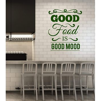 Vinyl Wall Decal Healthy Food Quote Words Kitchen Dining Room Interior Stickers Mural (ig5833)