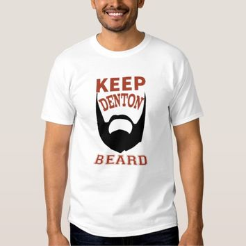 Keep Denton Beard White T-Shirt Man