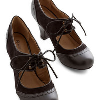 ModCloth Menswear Inspired The Best of Times Heel in Black