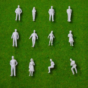 1/50 white figure for architectural building model materials