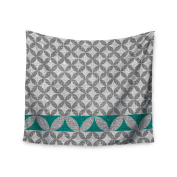 "Nick Atkinson ""Diamond Turquoise"" Wall Tapestry"