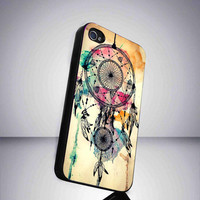 Water Color Dream Catcher Case Cover for iPhone 4 / 4s and iPhone 5