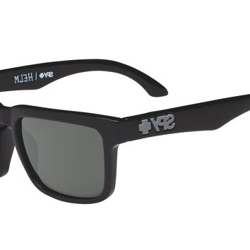 Spy - Helm Black Sunglasses, Happy Grey Green Lenses