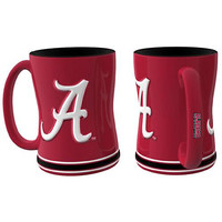 Alabama Crimson Tide NCAA Coffee Mug - 15oz Sculpted (Single Mug)