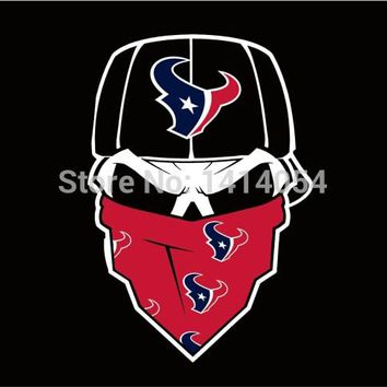 Houston Texans skull mask  Flag NFL 3X5FT Banner 100D Polyester brass grommets custom, free shipping