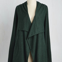 Mid-length Chill You Be Mine? Cardigan in Forest