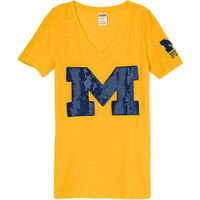 University of Michigan Fitted V-Neck Tee - PINK - Victoria's Secret