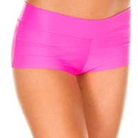 Buy Hot Pink Lycra Booty Shorts