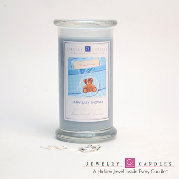 Happy Baby Shower (Boy) Jewelry Greeting Candles
