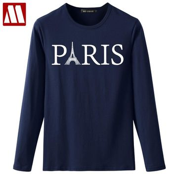 Vogue Paris Boys T-Shirts Men/ Women Round neck Paris Tower Printing tshirt Casual Male Tops Hipster Cool Mens Eiffel Tee Shirts