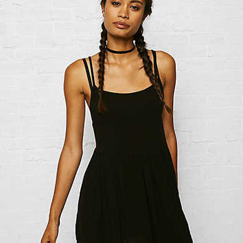 Don't Ask Why Strappy Crepe Dress, Black
