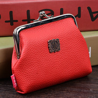 2016 Famous Brand Women Top PU Leather Coin Purse Car Holder Wallet Money Key Pouch,Girl's Cosmetic HandBag Free Shipping
