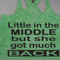 Little In The Middle but she got much Back. Squats. Abs. Fitness Shirt. Motivation. by WorkItWear