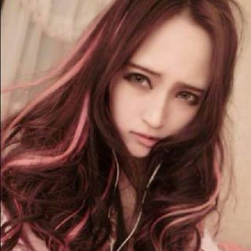 Wig brown-pink Ready Stock murah lady sexy party wig ready stock 100cm Long Bangs hair full wigs Wavy Curly Cosplay wig anime stuff Lolita harajuku kawaii