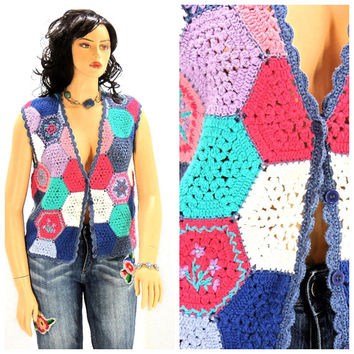 Shop Crochet Sweater Vest On Wanelo