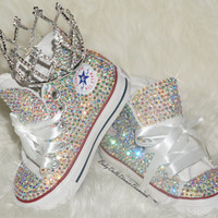 Handmade CUSTOM CRYSTAL TODDLER/Youth Converse
