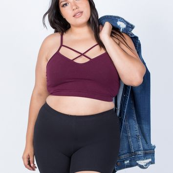 Plus Size Gym Time Shorts