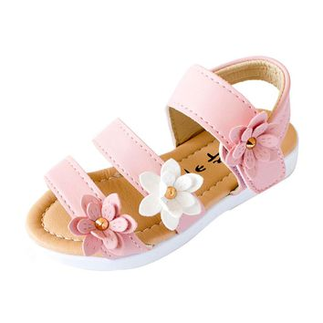 Girls Flower Power Sandals Sizes 5-9.5