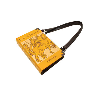 Iliad & Odyssey Bookpurse - Decadence Homer Book Purse Clutch Handbag - Bookish accessory