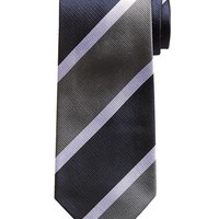 Banana Republic Tonal Stripe Silk Tie Size One Size - Gray