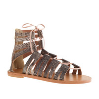 J.Crew Womens Aztec Snakeskin Lace-Up Gladiator Sandals