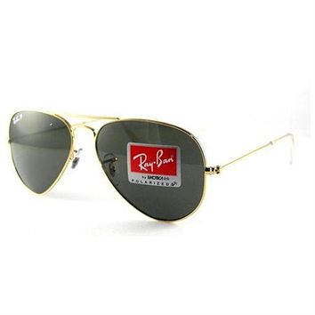 MDIGNO Ray Ban RB3025 Aviator Sunglasses-001/58 Gold Gold (Green Polar Lens)-55mm