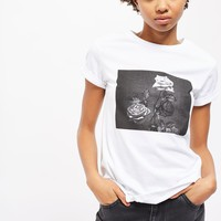 **Monochrome Rose Print T-Shirt by Nobody's Child | Topshop